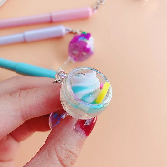 Fruit Soda Float Charm Pen