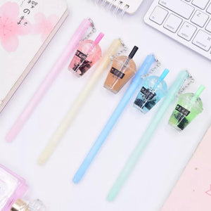 Bubble Tea Milk Tea Boba Liquid Shaker Bubble Charm Pen Stationery - Sweetie Kawaii