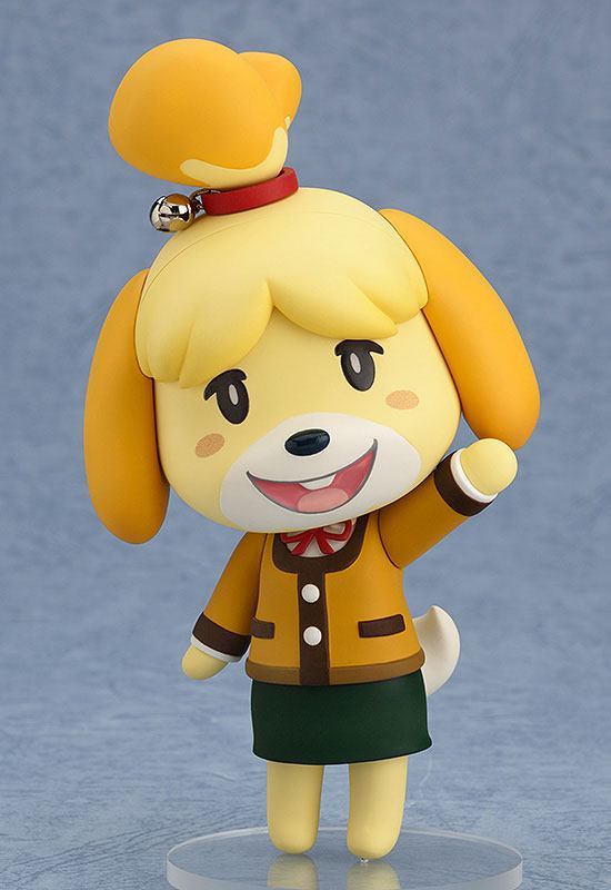 Animal Crossing New Leaf Nendodroid Action Figure Shizue Isabelle Winter Ver.