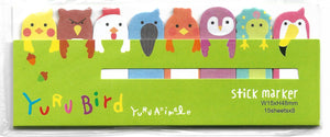 Cute Birds Sticky Memo Point Markers