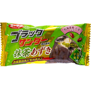 Black Thunder Matcha Green Tea & Azuki Red Bean Bar Japanese Candy & Snacks - Sweetie Kawaii