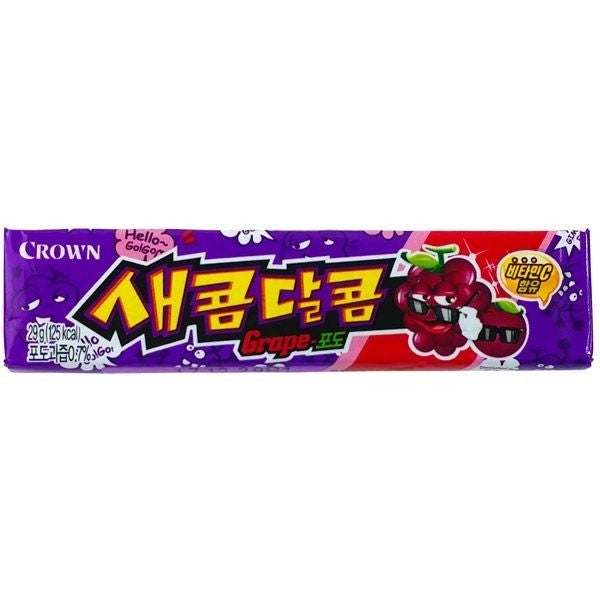 Crown Saekom Dalkom Grape Flavoured Candy