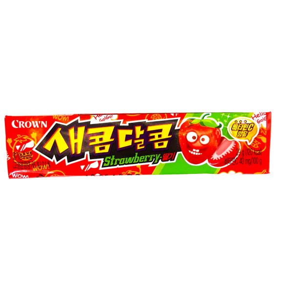 Crown Saekom Dalkom Strawberry Flavoured Candy