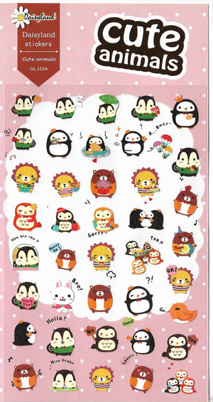 Daisyland Cute Animals & Friends Sticker Sheet Stickers - Sweetie Kawaii