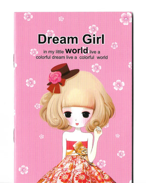 Dream Girl Fashion Baby Pink Mini Memo Notebook Stationery - Sweetie Kawaii