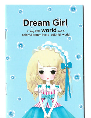 Dream Girl Fashion Pastel Blue Mini Memo Notebook Stationery - Sweetie Kawaii