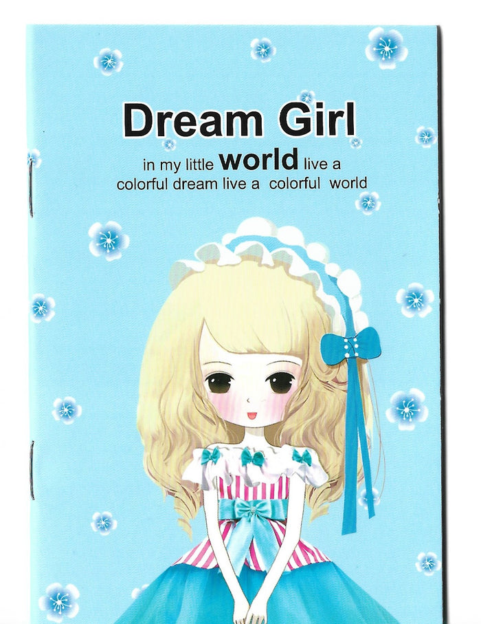 Dream Girl Fashion Pastel Blue Mini Memo Notebook