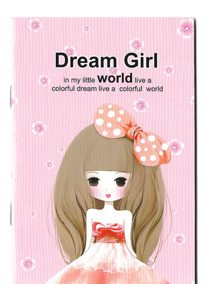 Dream Girl Fashion Pastel Pink Mini Memo Notebook Stationery - Sweetie Kawaii
