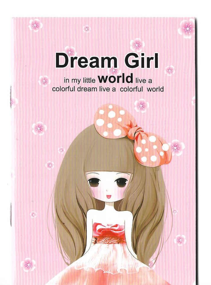 Dream Girl Fashion Pastel Pink Mini Memo Notebook