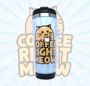 Fuzzballs Coffee Right Meow Travel Mug Homeware & Kitchen - Sweetie Kawaii