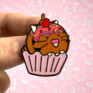 Fuzzballs Tiger Cupcake Enamel Pin Badges & Pins - Sweetie Kawaii