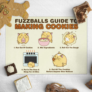 Fuzzballs Guide to Making Cookies Chopping Board