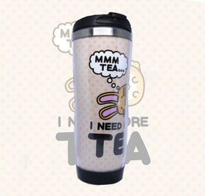 Fuzzballs Mmm Tea Travel Mug Homeware & Kitchen - Sweetie Kawaii