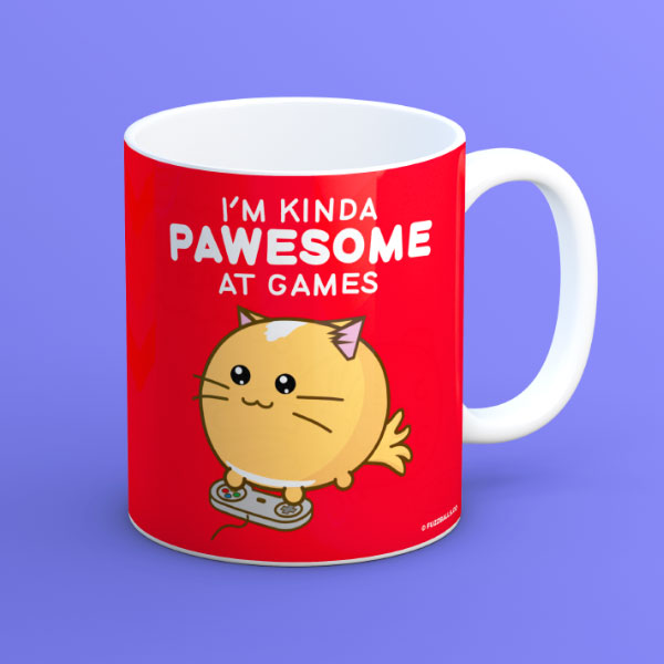 Fuzzballs I'm Kinda Pawesome at Games Mug