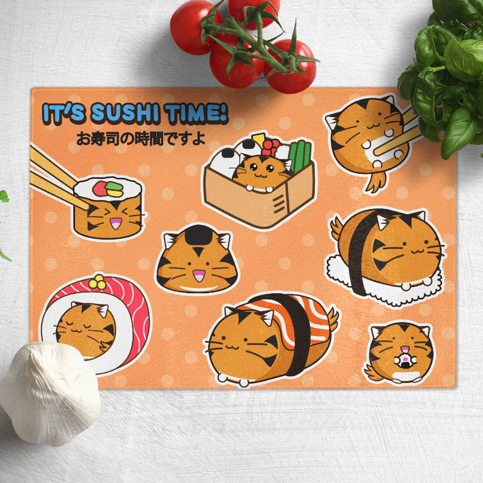 Fuzzballs It's Sushi Time Chopping Board