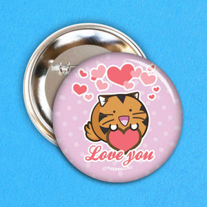 Fuzzballs Love You Badge