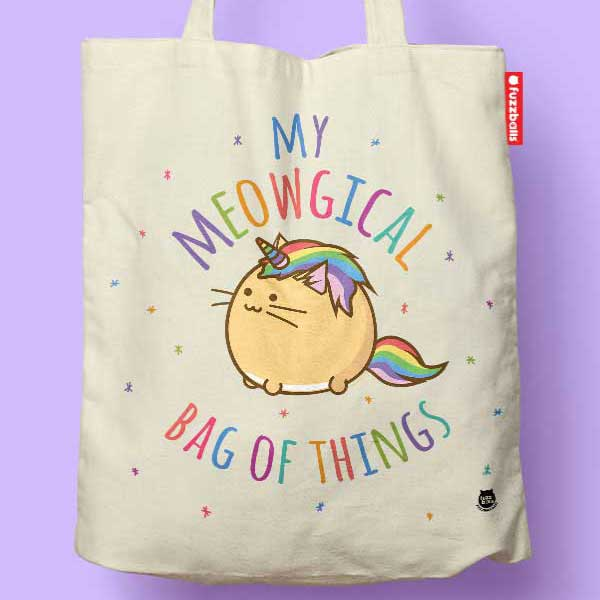 Fuzzballs My Meowgical Bag of Things Tote Bag