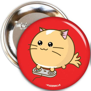 Fuzzballs Pawesome At Games Badge Badges & Pins - Sweetie Kawaii