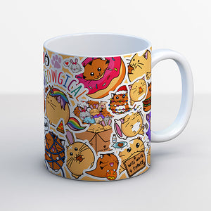 Fuzzballs Stickers Mug Homeware & Kitchen - Sweetie Kawaii