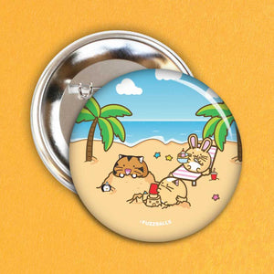 Fuzzballs Summer Beach Badge