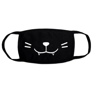 Kawaii Cat Black Face Mask