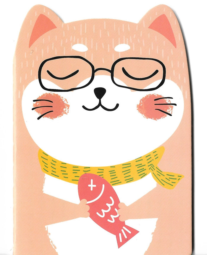 Happy Kitty Cat Mini Memo Notebook