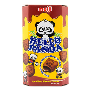Hello Panda Double Chocolate Flavour Filled Biscuits Japanese Candy & Snacks - Sweetie Kawaii