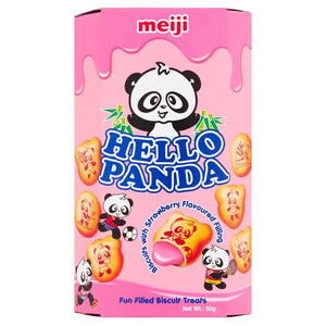 Hello Panda Strawberry Flavour Filled Biscuits