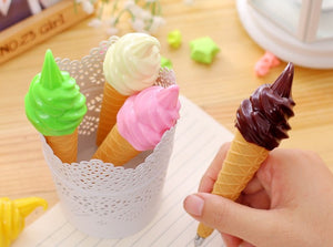 Summertime Dessert Ice Cream Cone Pen Stationery - Sweetie Kawaii