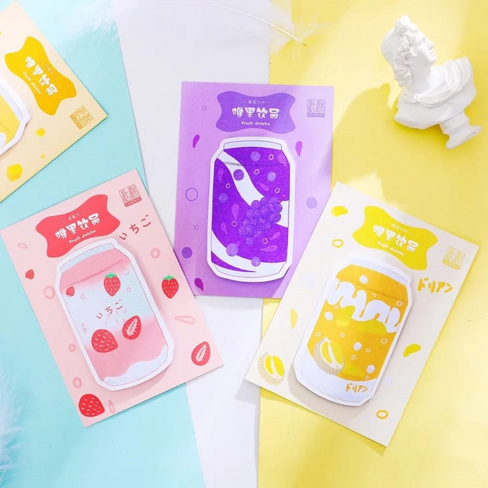 Kawaii Fruit Soda Drink Sticky Memo Pad Notes