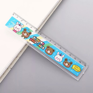 Happy Animal Friends Ruler Stationery - Sweetie Kawaii