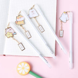Kawaii Animal Office School Pen - Shiba, Puppy, Bunny & Piggy Stationery - Sweetie Kawaii