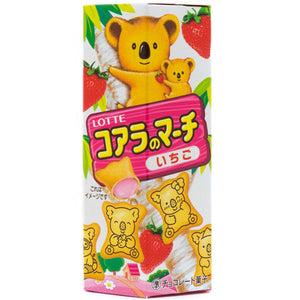 Lotte Koala March Strawberry Cream Biscuits Japanese Candy & Snacks - Sweetie Kawaii