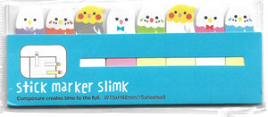 Little Budgie Bird Sticky Memo Point Markers