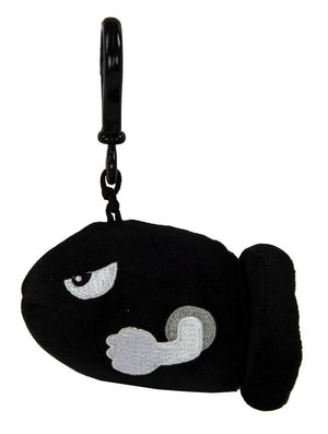 Mario Kart Mocchi-Mocchi Clip On Plush Hanger Bullet Bill Keychain Collectables - Sweetie Kawaii
