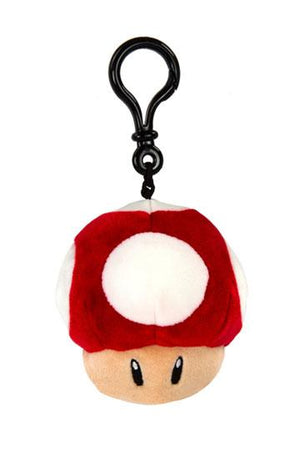 Mario Kart Mocchi-Mocchi Clip On Plush Hanger Super Mushroom Keychain Collectables - Sweetie Kawaii