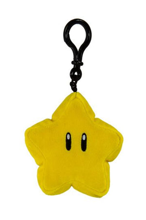 Mario Kart Mocchi-Mocchi Clip On Plush Hanger Super Star Keychain Collectables - Sweetie Kawaii