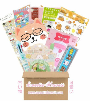 Mystery Kawaii Stationery Box (NO SUBSCRIPTION NEEDED!) Japanese Candy & Snacks - Sweetie Kawaii