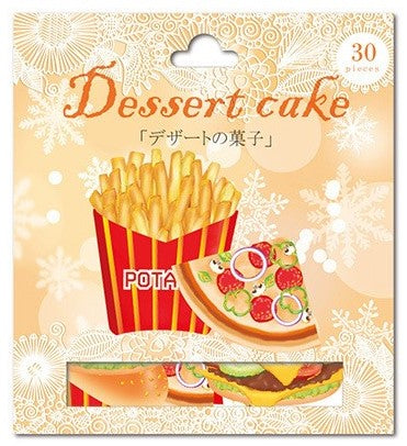 Nekoni Dessert Cake Fast Food Sticker Flakes