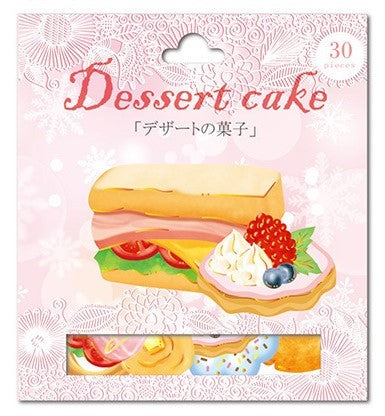 Nekoni Dessert Cake Sandwich & Fruit Tart Sticker Flakes