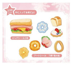 Nekoni Dessert Cake Sandwich & Fruit Tart Sticker Flakes Stickers - Sweetie Kawaii