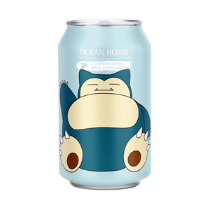 Ocean Bomb Snorlax White Grape Flavoured Pokemon Sparkling Water Drink Japanese Candy & Snacks - Sweetie Kawaii