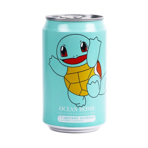 Ocean Bomb Squirtle Pear Flavoured Pokemon Sparkling Water Drink Japanese Candy & Snacks - Sweetie Kawaii