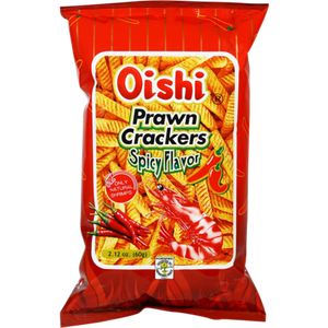 Oishi Spicy Prawn Crackers Shrimp Chips Japanese Candy & Snacks - Sweetie Kawaii