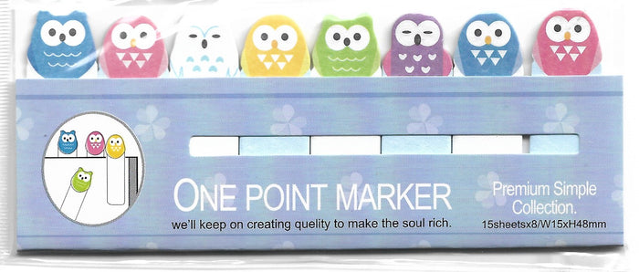 Little Owl Sticky Memo Point Markers