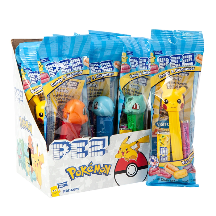 Pokemon PEZ Collectable Candy Dispenser - Pikachu, Bulbasaur, Charmander or Squirtle