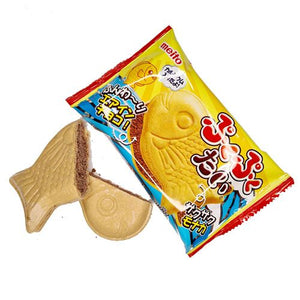 Meito Puku Puku Tai Taiyaki Chocolate Wafer Biscuit