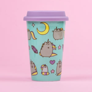 Pusheen the Cat Unicorn Pattern Ceramic Travel Mug