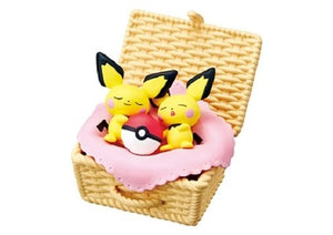 Re-ment Pokemon Napping Utatane Basket Rement Figures - Sweetie Kawaii