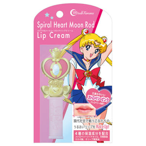 Bandai Creer Beaute Sailor Moon Miracle Romance Spiral Heart Moon Rod Lip Cream - Strawberry Pink